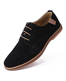 Men's Classic Suede Derby Oxford Shoes