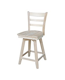 Emily Counter Height Stool with Swivel and Auto Return