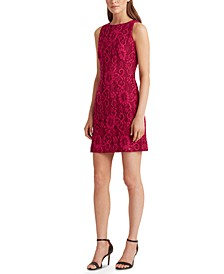 Petite Sleeveless Lace Dress