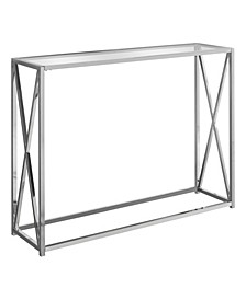 """Accent Table - 42"""" L with Tempered Glass"""