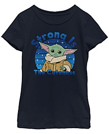 Star Wars The Mandalorian Big Girls The Child Strong Is The Cuteness Short Sleeve T-shirt