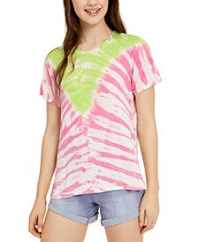 Juniors' Printed Tie-Dye T-Shirt