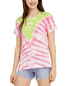 Juniors' Printed Tie-Dye T-Shirt