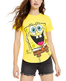 Juniors' Spongebob Graphic High-Low T-Shirt