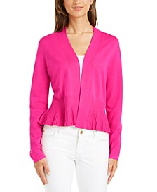 Solid Peplum Cardigan Sweater, Created for Macy's