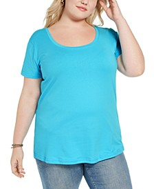 Trendy Plus Size Scoop-Neck T-Shirt