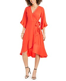 Ruffled Wrap Dress, Created for Macy's