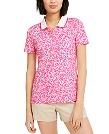 Tommy Hilfiger Floral-Print Polo Shirt