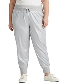 Plus-Size Jersey Jogger Pants