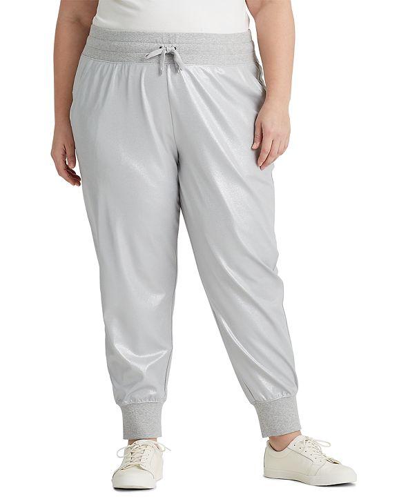 Lauren Ralph Lauren Plus-Size Jersey Jogger Pants