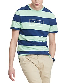 Men's Summer Series Striped Logo T-Shirt