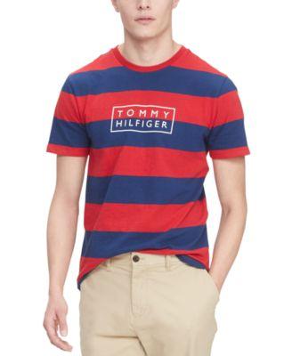 Men's Summer Series Striped Logo T-Shirt