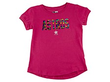 Houston Astros Youth Girls Flip Sequin T-Shirt