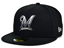 Milwaukee Brewers Men's Faded Fitted Cap
