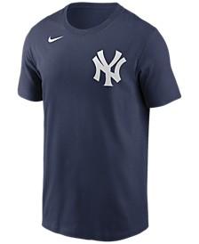 New York Yankees  Men's Swoosh Wordmark T-Shirt