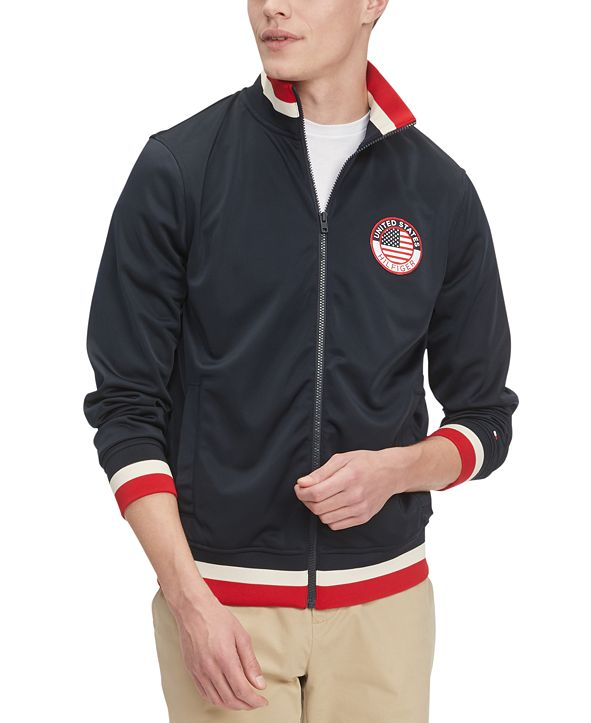 Tommy Hilfiger Men's Olympian Embroidered Track Jacket