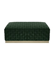 Satine Woven Bench with Metal Base