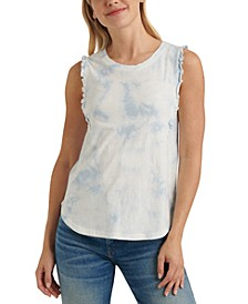 Tie-Dyed Ruffled Top