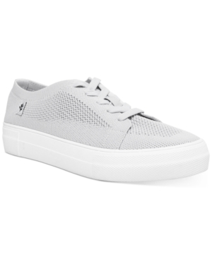 Valeriee Lace-Up Knit Sneakers