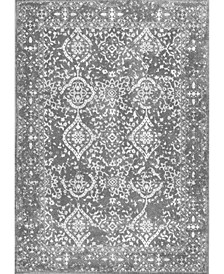 """Bodrum Oriental Vintage-Inspired Odell Silver 5' x 7'5"""" Area Rug"""