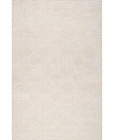Simplified Hand Tufted Wilhelmina Cream 6' x 9' Area Rug