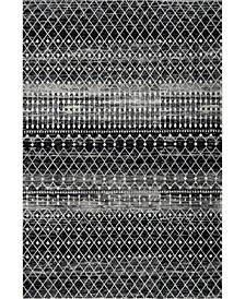 "Bodrum Moroccan Blythe Black 5' x 7'5"" Area Rug"