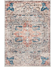 """Delicate Astra Persian Vintage-Inspired Beige 6'7"""" x 9' Area Rug"""