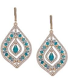 Gold-Tone Beaded Orbital Earrings