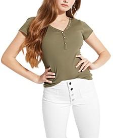 Ribbed Henley T-Shirt