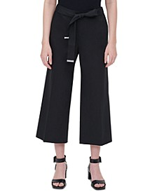 Plus Size Tie-Waist Cropped Pants