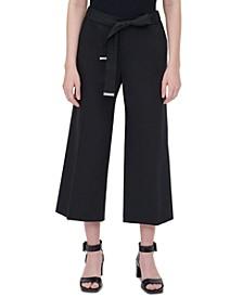 Plus Size Tie-Waist Cropped Pants