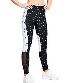 Women's HeatGear® Colorblocked Logo-Print Leggings