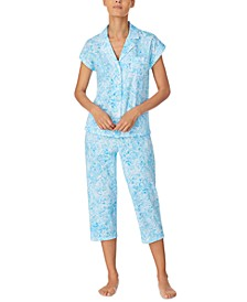 Petite Printed Cotton Capri Pajama Set