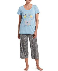 HUE® Women's Seeds Of Hope T-Shirt & Capri Pants Pajama Set