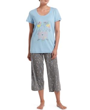 Hue WOMEN'S SEEDS OF HOPE T-SHIRT & CAPRI PANTS PAJAMA SET