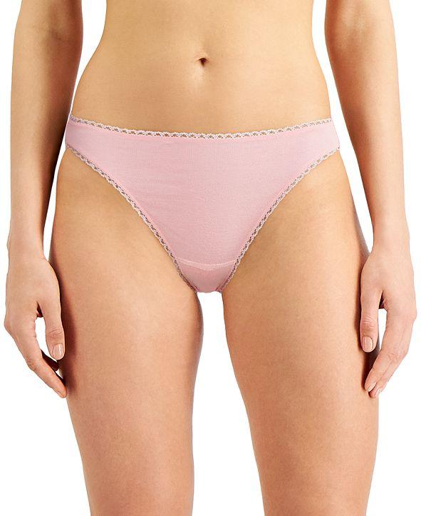 Charter Club Women's Pretty Cotton Bikini Underwear, Created for Macy's