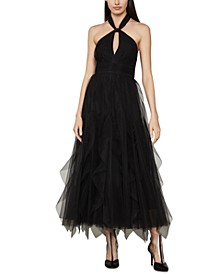 Tulle Halter-Neck Dress