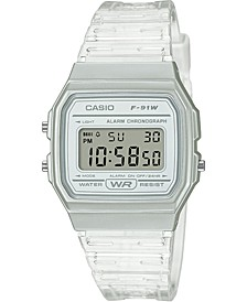Unisex Digital Clear Jelly Strap Watch 35.2mm