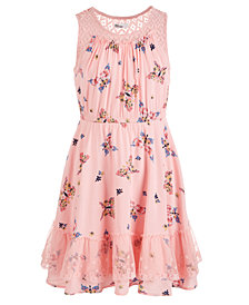 Epic Threads Big Girls Butterfly-Print Challis Dress, Created for Macy's