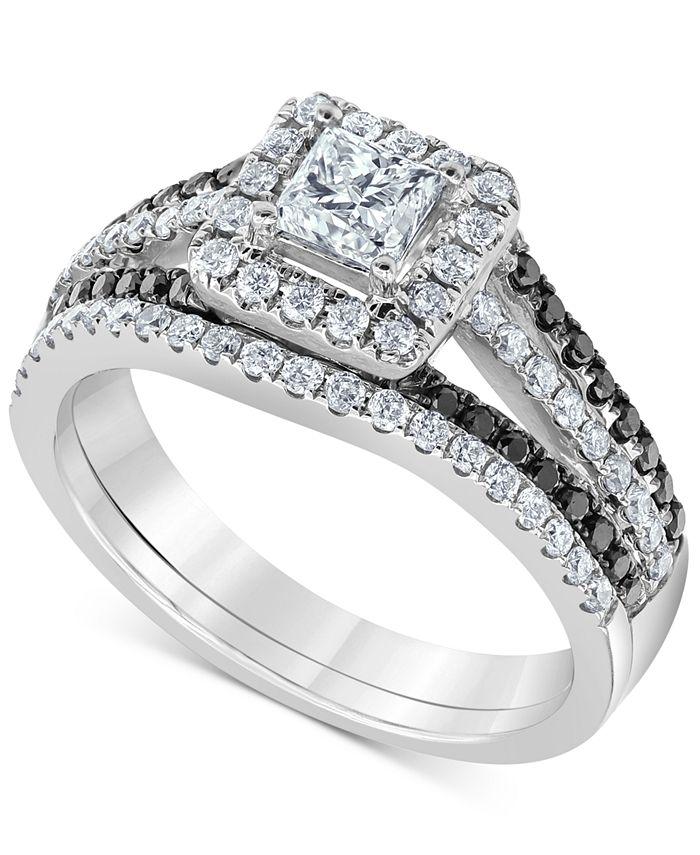 Macy's - Diamond Princess Bridal Set (1-1/6 ct. t.w.) in 14k White Gold