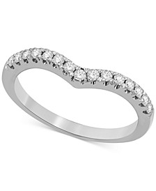 Diamond Chevron Band (1/4 ct. t.w.) in 14k White or Yellow Gold