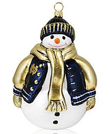 Joy to the World Collegiate Notre Dame Snowman Sports Ornament