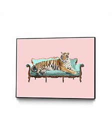 Robert Farkas Lazy Tiger Art Block Framed
