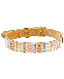 Izzy Leather Dog Collar, Medium