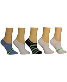 Women's Stripe Sneaker Socks, Pack of 5