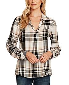Plaid Popover Shirt