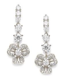 Cubic Zirconia Open Petal Drop Earrings, Created for Macy's