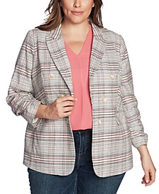 Plus Size Plaid Cassia Blazer