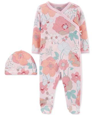 DKNY Baby Girls 2 Piece Super Star Bodysuit and Footie Set