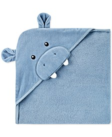 Baby Boys Hooded Cotton Hippo Towel